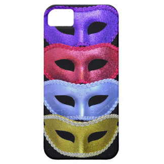 Bunte Glittermasken iPhone 5 Hülle