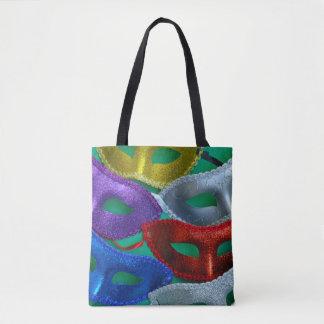 Bunte Glittermasken Tasche