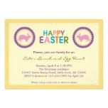 Bunte glückliche Ostern-Einladung