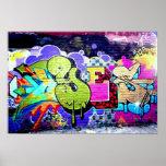 Bunte Graffiti-Kunst Plakatdruck