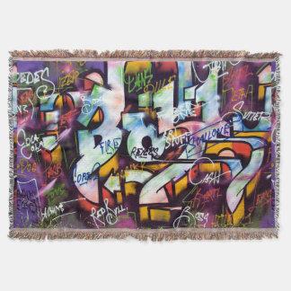 Bunte Graffiti-Wörter Decke