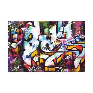Bunte Graffiti-Wörter Leinwanddruck