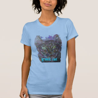 bunte griechische Katze T-Shirt