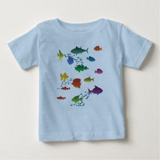 Bunte Gruppe Fische Unterwasser Baby T-shirt
