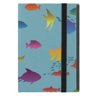 Bunte Gruppe Fische Unterwasser Etui Fürs iPad Mini