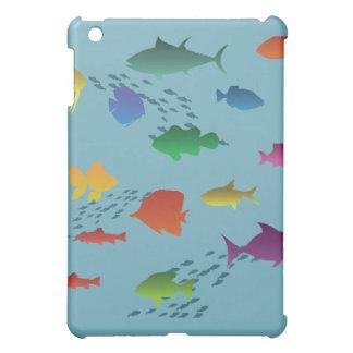 Bunte Gruppe Fische Unterwasser iPad Mini Hülle