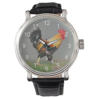 Bunte Hahn-Malerei Uhren