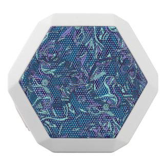 Bunte Hand gezeichneter abstrakter Musterentwurf Weiße Bluetooth Lautsprecher