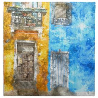 Bunte Häuser in Burano Italien nahe Venedig Serviette