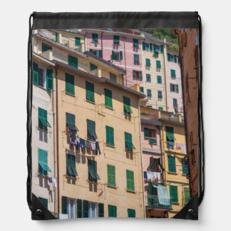 Bunte Häuser in Cinque Terre Italien Sportbeutel