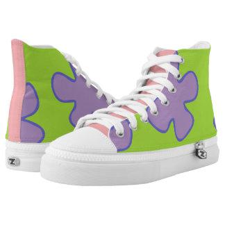 Bunte hawaiische Schuhe