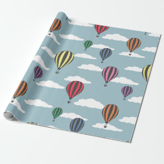 Bunte Heißluftballone Geschenkpapier