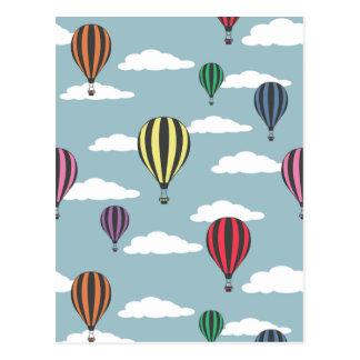 Bunte Heißluftballone Postkarte