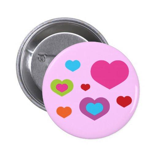 Bunte Herzen Buttons