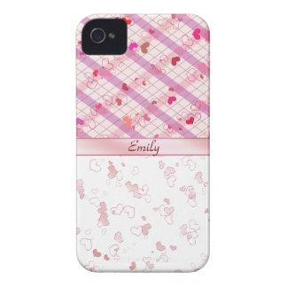 Bunte Herzen iPhone 4 Case-Mate Hülle