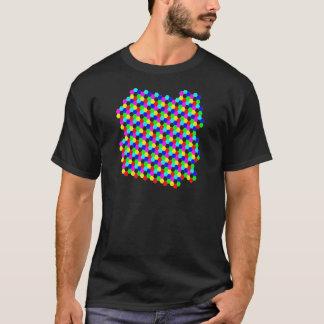 Bunte Hexagon-optische Täuschung T-Shirt