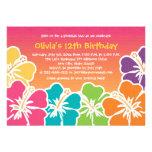 Bunte Hibiskus-Geburtstags-Einladungen irgendein
