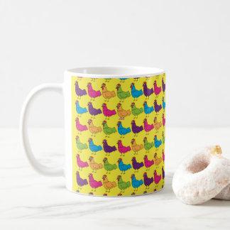 Bunte Huhn-Tasse Kaffeetasse