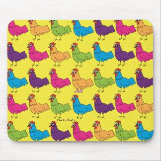 Bunte Hühner Mousepad