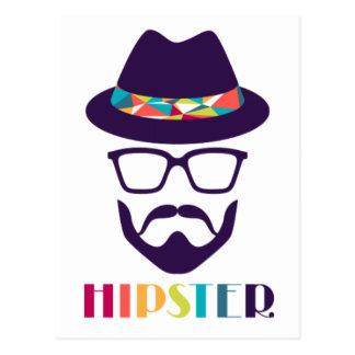 Bunte Hutgläser des coolen Hipsters Postkarte