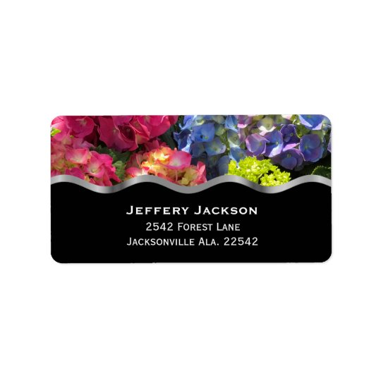 Bunte Hydrangea-Adressen-Etiketten Adressaufkleber