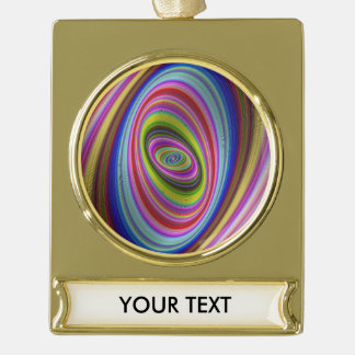 Bunte Hypnose Banner-Ornament Gold