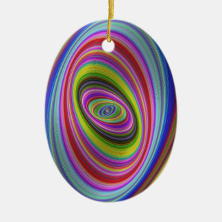 Bunte Hypnose Keramik Ornament