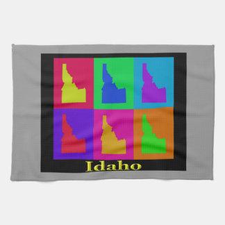 Bunte Idaho-Staats-Pop-Kunst-Karte Handtuch