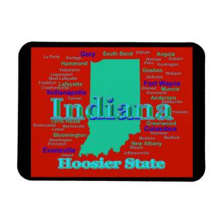 Bunte Indiana-Staatsstolz-Karten-Pop-Kunst Magnet