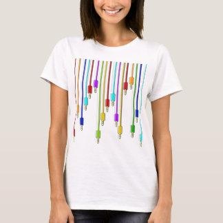 Bunte Kabel T-Shirt