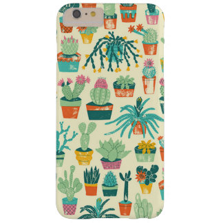 Bunte Kaktus-Blumen-Muster iPhone 6 Plusfall Barely There iPhone 6 Plus Hülle