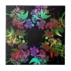 Bunte Kaleidoskop-Entwurfs-Fraktal-Kunst-Geschenke Keramikfliese