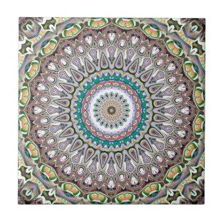 Bunte Kaleidoskop-Mandala Keramikfliese
