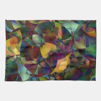 Bunte, kaleidoskopische abstrakte Kunst Geschirrtuch