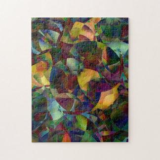 Bunte, kaleidoskopische abstrakte Kunst Puzzle