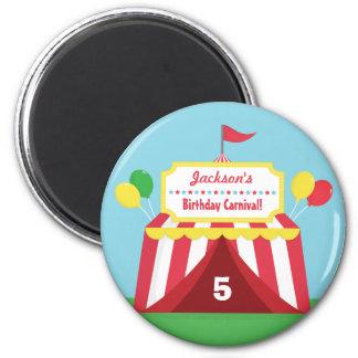 Bunte Karnevals-Kindergeburtstag-Gastgeschenke Runder Magnet 5,7 Cm