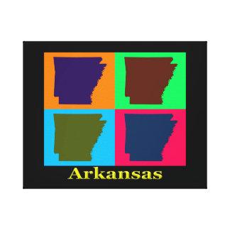 Bunte Karte Arkansas Leinwanddruck