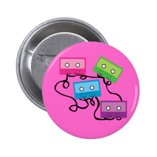 Bunte Kassetten Button