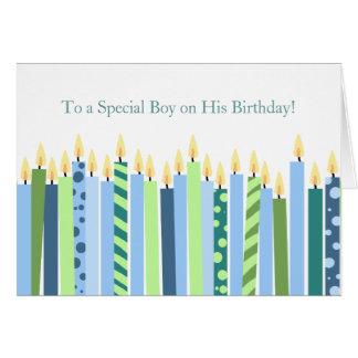 Bunte Kerzen Jungen-Geburtstags-Karten- Karte