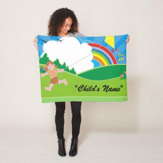 Bunte Kinderdrachen-Fliegen-Entwurfs-Fleece-Decke Fleecedecke
