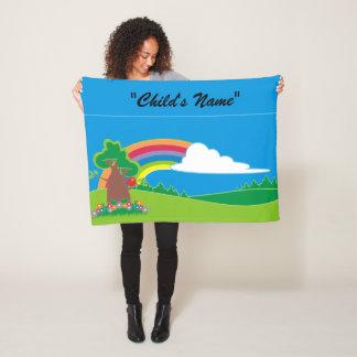 Bunte Kinderregenbogen-Entwurfs-Fleece-Decke Fleecedecke