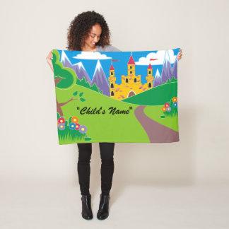 Bunte Kinderschloss-Entwurfs-Fleece-Decke Fleecedecke