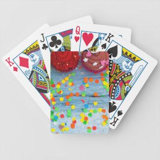 bunte kleine Kuchen Bicycle Spielkarten