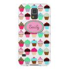 Bunte kleine Kuchen - personalisiert Hülle Fürs Galaxy S5