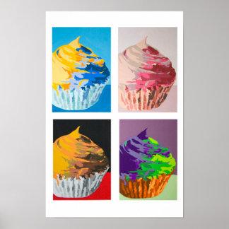Bunte kleine Kuchen Poster