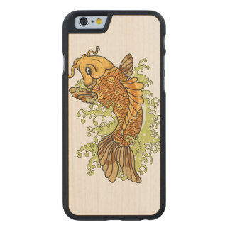 Bunte Koi Fische Carved® iPhone 6 Hülle Ahorn