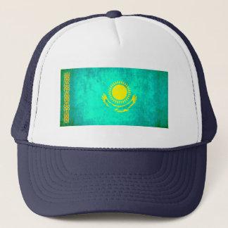 Bunte Kontrast Kazakhstani Flagge Truckerkappe