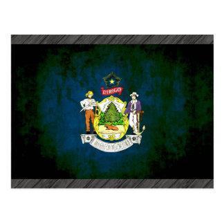 Bunte Kontrast Mainer Flagge Postkarte
