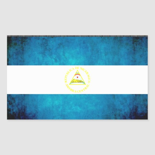 Bunte Kontrast-Nicaraguaner-Flagge Aufkleber