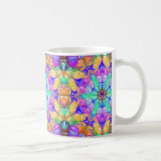 Bunte konzentrische Reflexionen Kaffeetasse